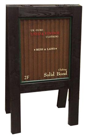 スタンド看板 立て看板 A型看板 ハンドメイド看板 アンティーク看板 カフェ サロン 店舗 看板 おしゃれ かわいい看板 antique rust stand sign【NO.3デザイン依頼】