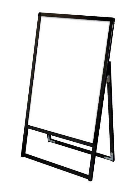 スタンド看板 立て看板 店舗看板 A型看板 ブラック 屋外 片面 BVASKAP-A2K【本体のみ】