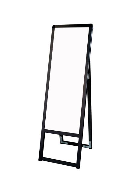 スタンド看板 立て看板 店舗看板 A型看板 ブラック 屋外 片面 BVASKAP-A3TTK【本体のみ】