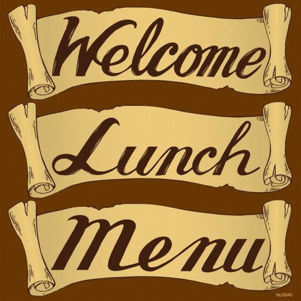 楽天市場シール メニュー看板 文字 Welcome Lunch Menu 英文字