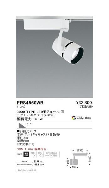 遠藤照明 スポットライト 超広角配光 白 3000TYPE 非調光