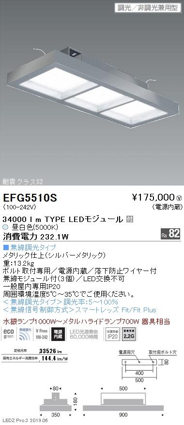 遠藤照明 高天井用照明 薄型シーリングライト 34000lmTYPE EFG5510S
