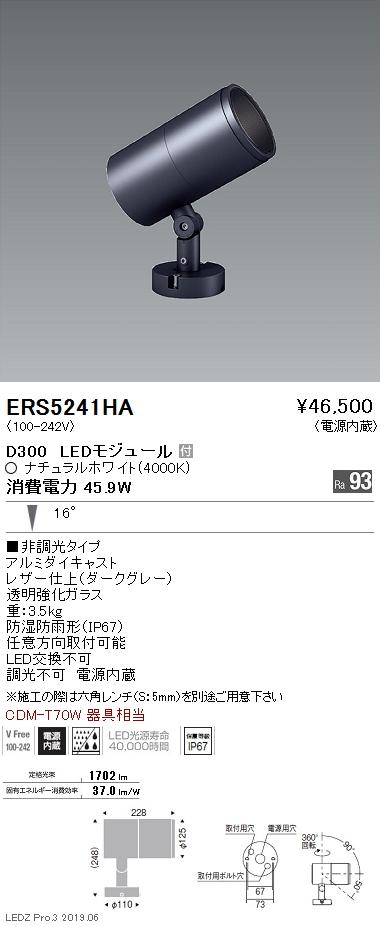 遠藤照明 アウトドアライト スポットライト 中角 拡散パネル付 ダークグレイ D300