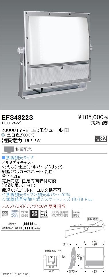 遠藤照明 アウトドアライト ハイパワーフラッドスポットライト 20000TYPE 5000K(昼白色) EFS4822S