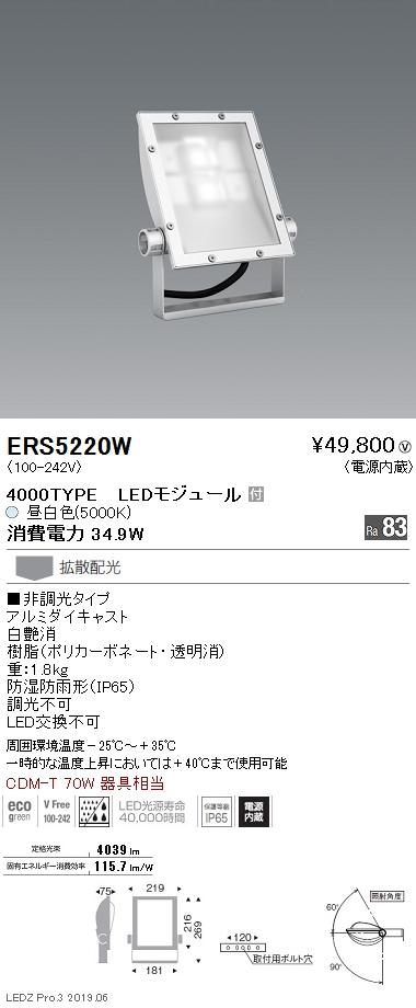 遠藤照明 アウトドアライト 軽量コンパクトスポットライト(看板灯) 本体 拡散配光 白艶消 4000TYPE