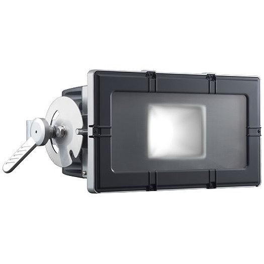 岩崎電気 E35104W/NSAN8 レディオックフラッドキューブ 210Wタイプ(水銀ランプ250W角形投光器×2台相当) 昼白色 フラットアーム グレイメタリック・ブラック