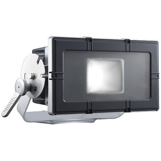 岩崎電気 E35204W/NSAN8 レディオックフラッドキューブ 210Wタイプ(水銀ランプ250W角形投光器×2台相当) 昼白色 台座付アーム グレイメタリック・ブラック