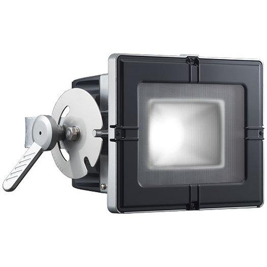岩崎電気 E35102W/NSAN8 レディオックフラッドキューブ 130Wタイプ(水銀ランプ250W角形投光器相当) 昼白色 フラットアーム グレイメタリック・ブラック