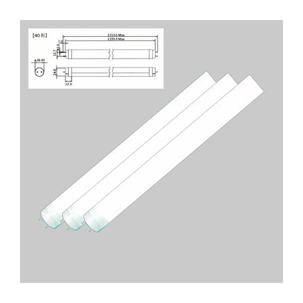 岩崎電気 L14T8S850JU20FPLX 直管LED(電源内蔵)14W 昼白色 FL40Wタイプ2000Lm