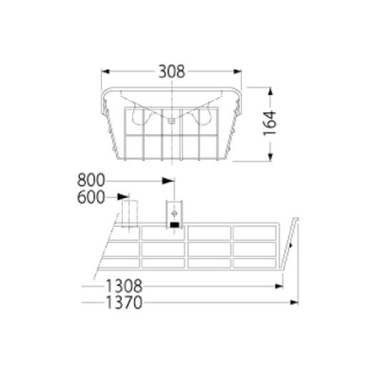 岩崎電気 PF42501 ガード LEDベースライト(40Wタイプ)用