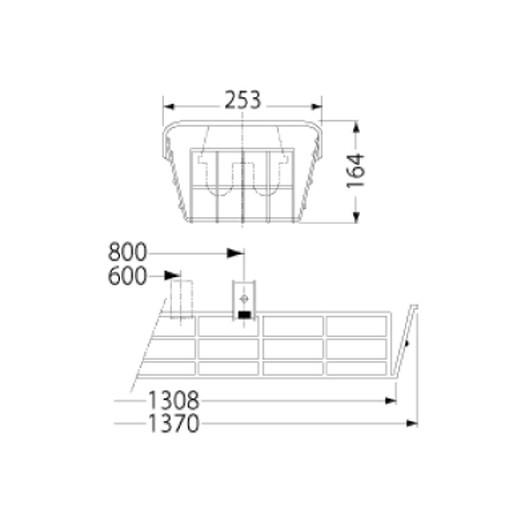 岩崎電気 PF41514 ガード LEDベースライト(40Wタイプ)用(ステンレス製)