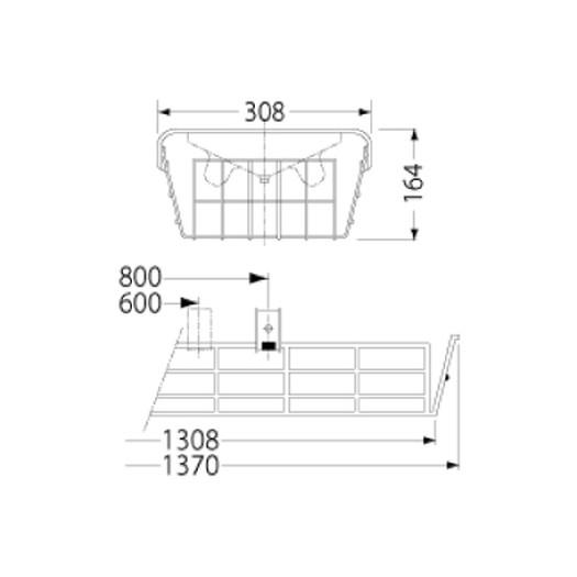 【ポイント7倍 6/21~6/26】岩崎電気 PF42504 ガード LEDベースライト(40Wタイプ)用(ステンレス製)