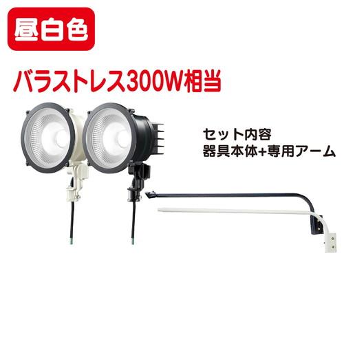 岩崎電気 レディオックフラッドポップ丸形タイプ LED投光器+アームセット 広角 昼白色