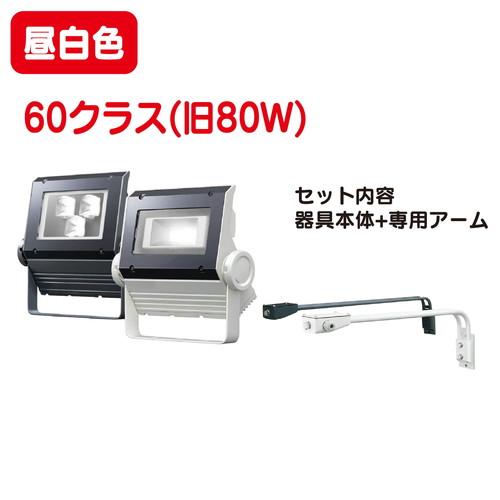 岩崎電気 レディオックフラッドネオ60クラス LED投光器+アームセット 昼白色