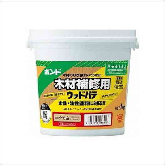 コニシボンド ウッドパテ タモ白 1kg #25824 12コ入(個人様宅・現場配達不可)