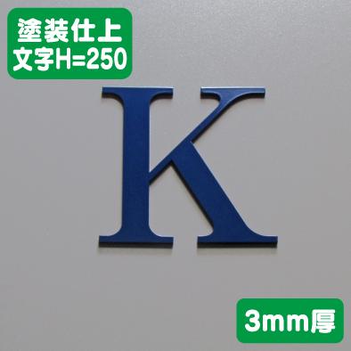 ステンレス切文字 塗装仕上げ 3mm厚 文字H=250