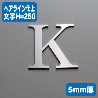 ステンレス切文字 ヘアライン仕上げ 5mm厚 文字H=250