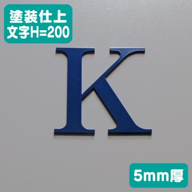 ステンレス切文字 塗装仕上げ 5mm厚 文字H=200