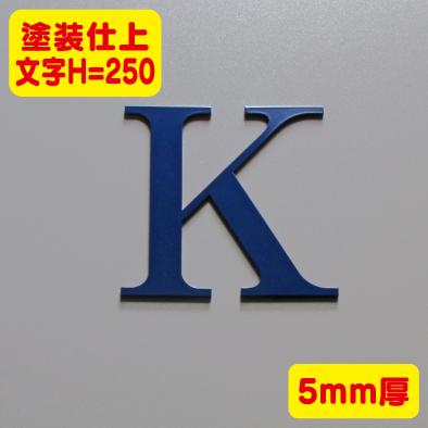 ステンレス切文字 塗装仕上げ 5mm厚 文字H=250