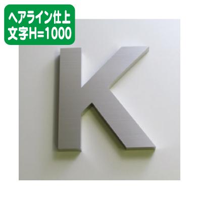 ステンレス箱文字 ヘアライン仕上げ 文字H=1000