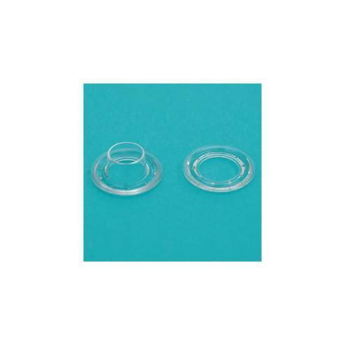 ハトメ加工ツール プラスチックハトメ 透明 1000セット 252G-58446PKP