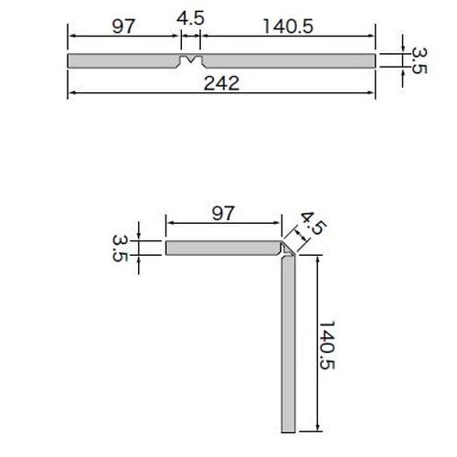 サンゲツ フロアタイル リフォルタ 框材(1枚単位)