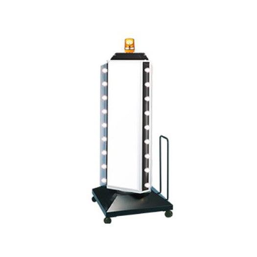 三和サインワークス スタンドサイン 150 3面点滅ロータリーLED(回転灯付) LED57-56 ブラック