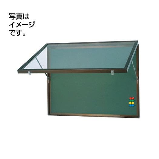 サンワ規格サイン 掲示板 掲示板SF23-S壁面ホーローグリーン SF23-SG シルバー(開閉型)