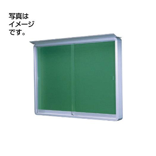 サンワ規格サイン 掲示板 掲示板SE34-S壁面(LED付) SE34-S-LED シルバー(引違い型)
