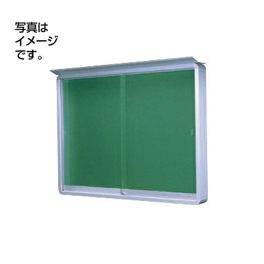 サンワ規格サイン 掲示板 掲示板SE36-S壁面(蛍光灯付) SE36-S-FL シルバー(引違い型)