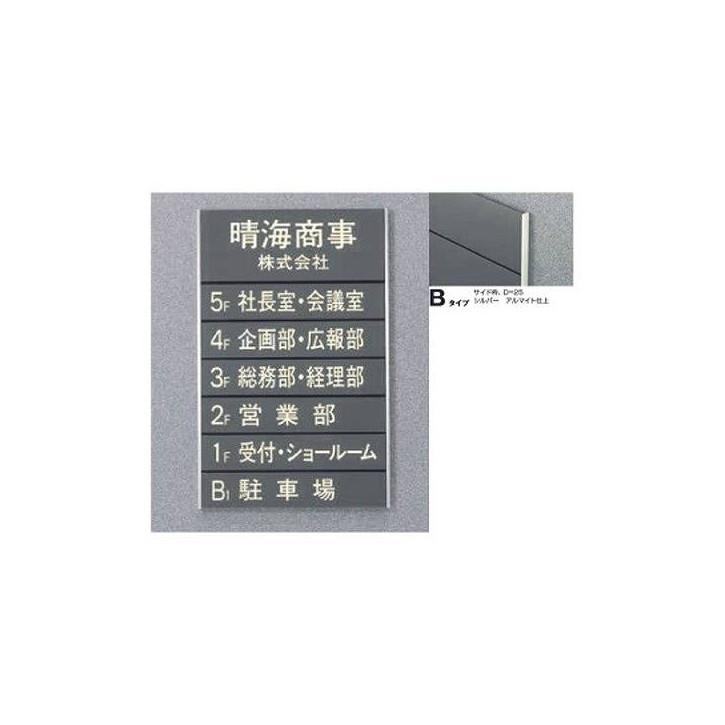 タテヤマアドバンス ガイドサイン(T面板) VG-02 TYPE B 5090505(特注CD) VG-02(B)T【受注生産品】
