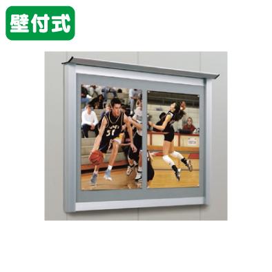 タテヤマアドバンス アルミ掲示板・簡易型 壁面タイプ シルバー LKN-1510 照明無 5S20167