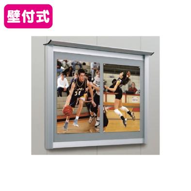 タテヤマアドバンス アルミ掲示板・簡易型 壁面タイプ シルバー LKN-1810 照明無 5S20168