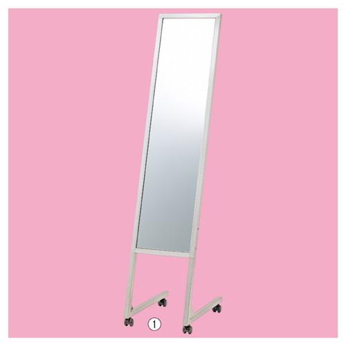 店舗用品 条件付き送料無料 店舗什器 無料 鏡厚5mm ブラック L字脚ミラー 安全