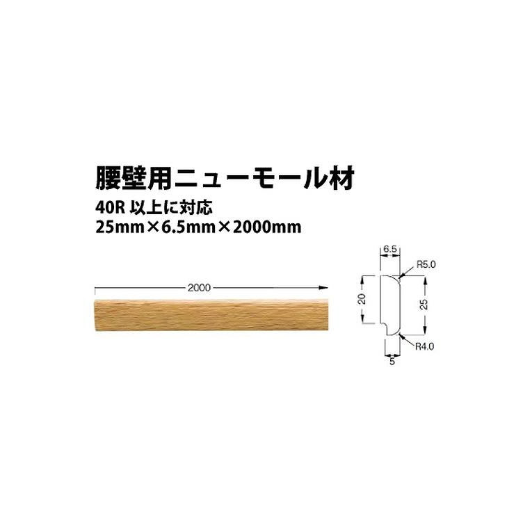 【ケース売り(10本)】東リ 立面仕上材 腰壁用ニューモール材 KKM3032
