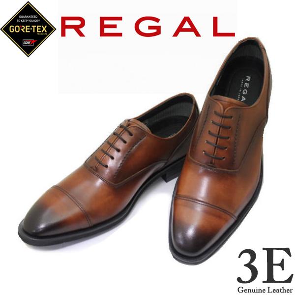 GORE-TEX ゴアテックス 靴 リーガル 35HR BB ブラウン 3E NEW REGAL ストレートチップ リーガルビジネスシューズ就活 靴 新入社員 靴 入学式 靴
