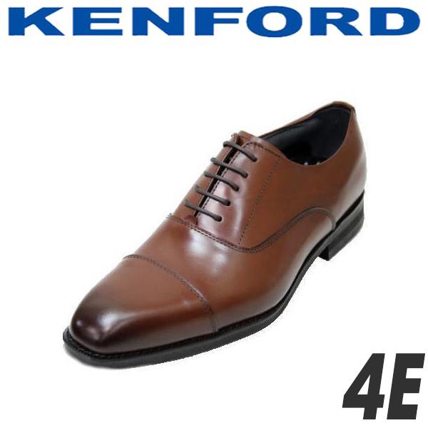 ケンフォード ストレートチップ KENFORD KN21ABブラウン4Eリーガル 靴 リーガルコーポレーションシューズ クツ 本革ビジネスシューズ 幅広靴