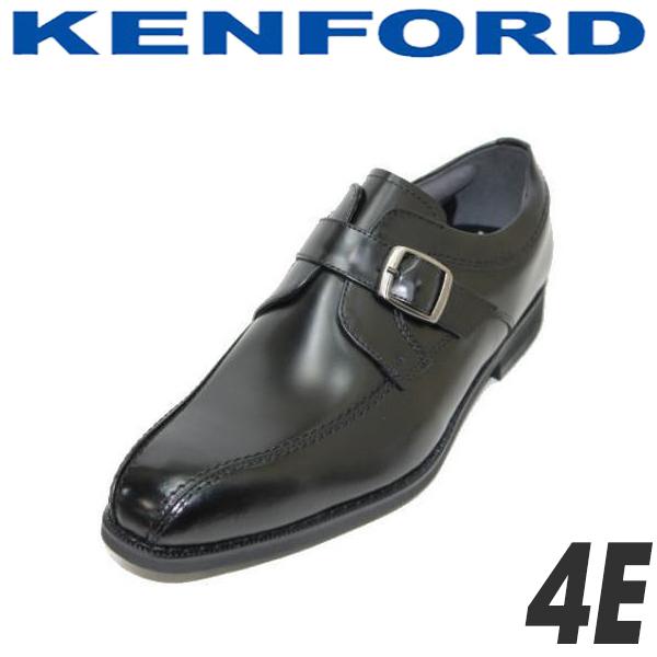 REGAL KENFORD(リーガル ケンフォード)モンクストラップKN23AB 黒色(ブラック) 4E ビジネスシューズ 革靴 幅広 メンズ用(男性用)本革(レザー) 就活 靴 【送料無料】【コンビニ受取は別途プラス110円】