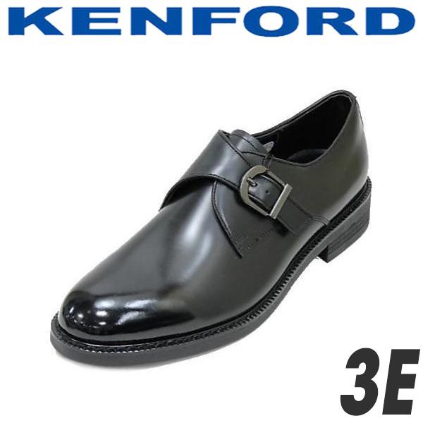 ケンフォード リーガル 靴 KN37 AAJ 黒 3E 本革モンクストラップシューズ 就活 靴 新入社員 靴 入学式 靴