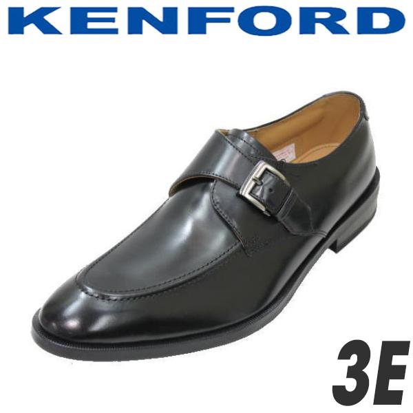 ケンフォード ユーチップモンクストラップ リーガルコーポレーションシューズ KENFORD KN54ACJ 黒 3E 本革メンズビジネスシューズ就活 靴 新入社員 靴 入学式 靴