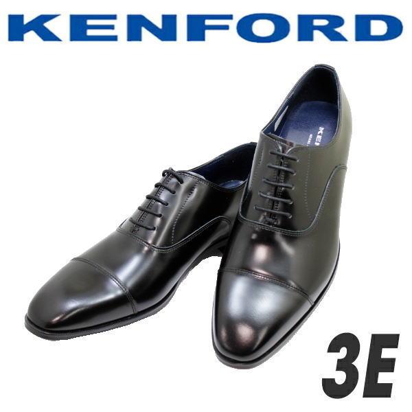 ケンフォード ストレートチップ リーガルコーポレーションシューズ KENFORD KN72 AC5 黒3E メンズシューズ 日本製