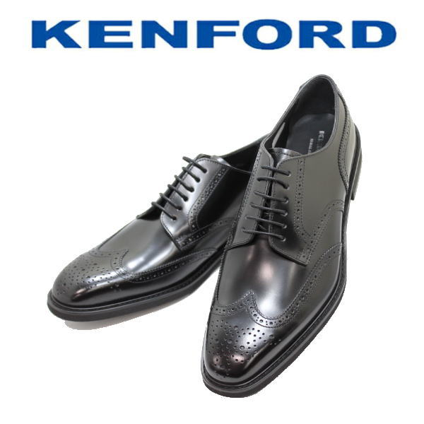KENFORD REGAL(ケンフォード リーガル)ウィングチップ KN85 AEJ 黒(ブラック)3E 革靴 メンズシューズ ビジネス靴 ビジネスシューズ メンズ用(男性用)本革(レザー)