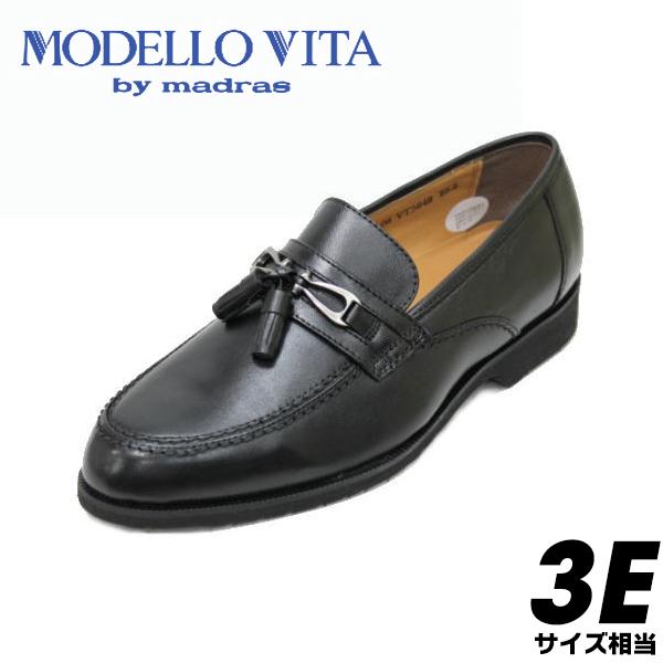 madras モデーロビータ5649黒3E紳士靴【靴】