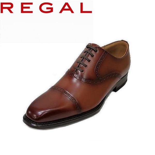 REGAL(リーガル) ビジネス ストレートチップ122R AL ブラウン(茶色)メダリオン 革靴 メンズ用(男性用)本革(レザー)日本製 【送料無料】【コンビニ受取は別途プラス110円】就活 靴 新入社員 靴 入学式 靴