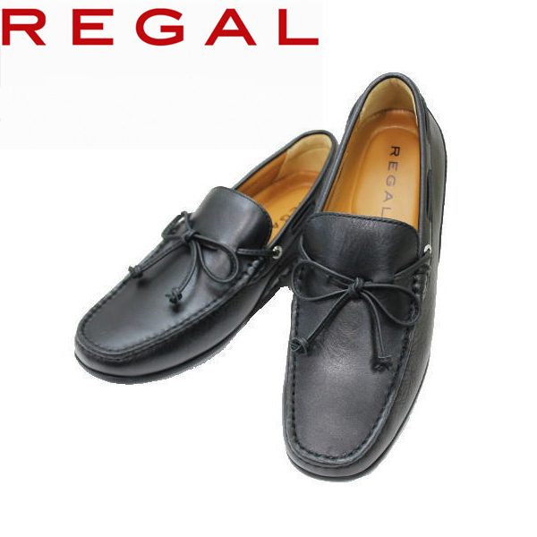 リーガル REGAL 55 PR AF 黒 バンプシューズ スリッポン靴 ビジネスシューズ カジュアル メンズ 紳士靴 本革 革 レザー シューズ