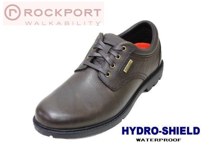 ロックポートV78375ダークブラウン 本革 防水系ウォーキングシューズ 靴 シューズ