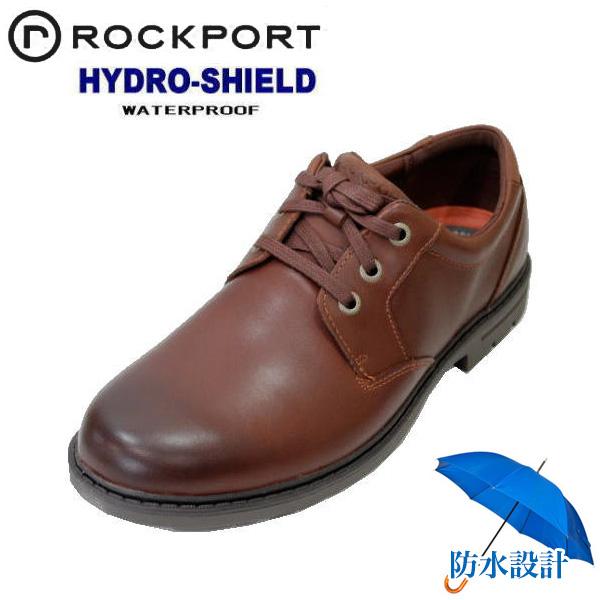 ロックポート CG7539 ブラウン 本革メンズ 防水ウォーキングシューズ 靴 ノンスリップ シューズ
