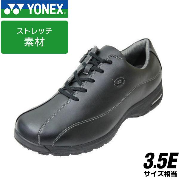 ウォーキングシューズYONEX MC-21黒3.5E 軽量 ソフト タウンシューズ【メンズ】【靴】