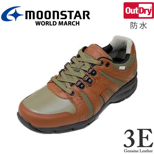 ウォーキングシューズ ワールドマーチ WM9002オリーブブラウン3E 紳士靴 防水【靴】【クツ】【くつ】【シューズ】【shoes】