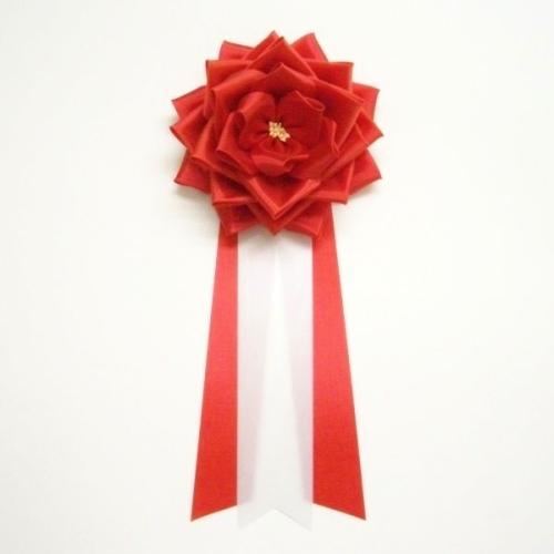 大リボンバラ胸章 1年保証 徽章 記章 胸花 ランキングTOP5 タレ クリップ付き